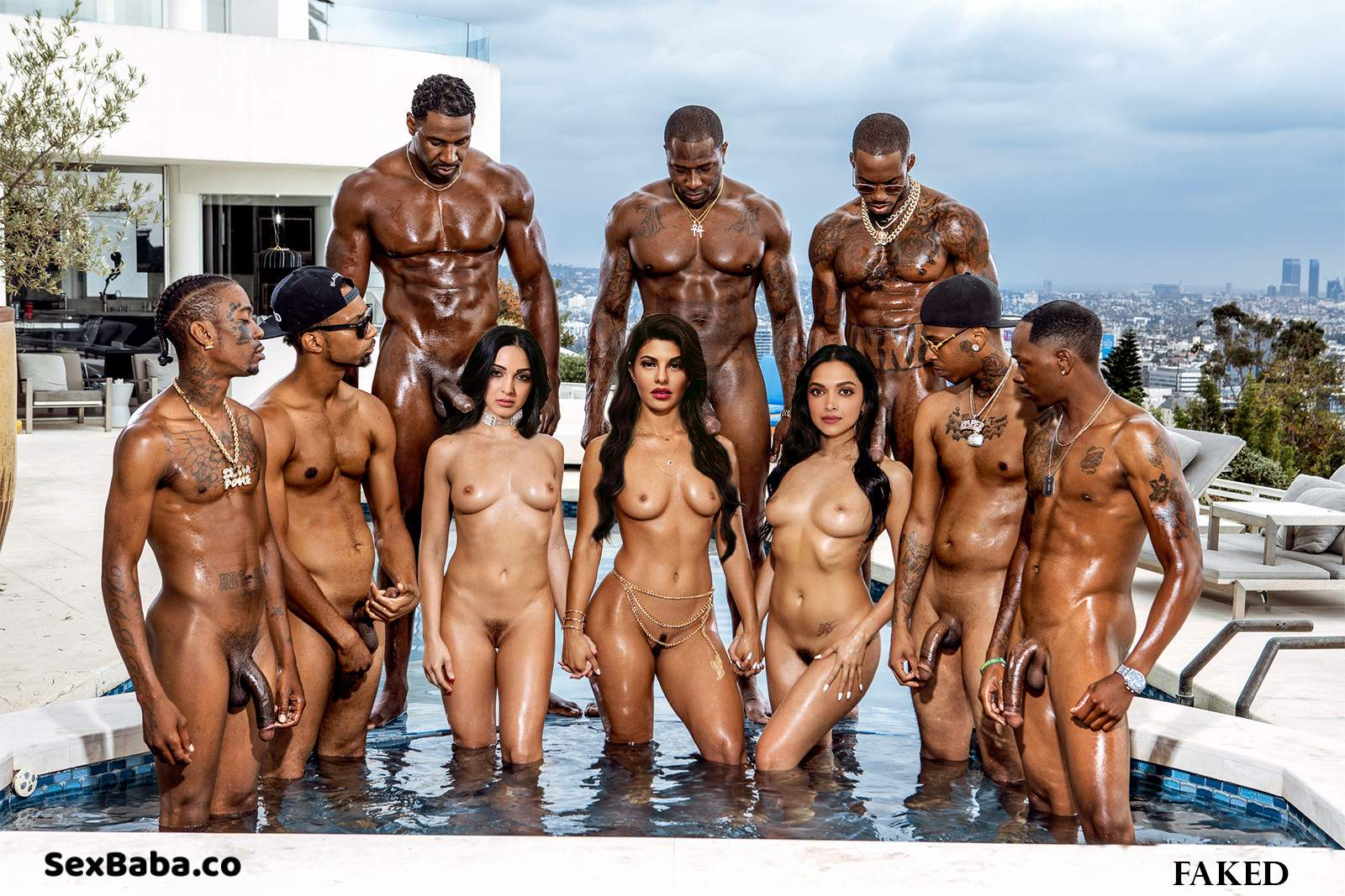 Kiara, Jacky and Deepika Fake nude Photo